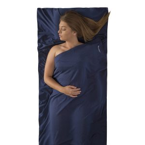 Expander Travel Liner Sea to Summit Traveler with pillow insert Navy Blue