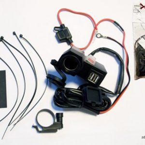 BTMUS04 motocyklowe gniazda USB na kierownicę