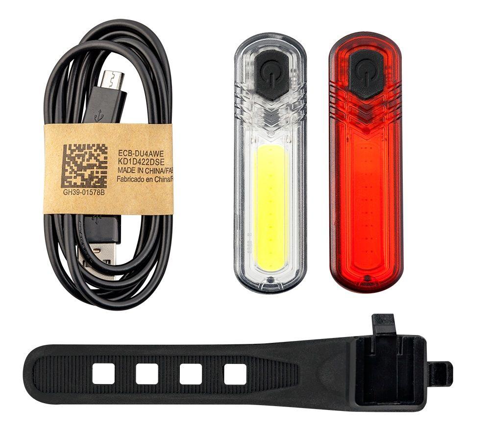 MACTRONIC DUOSLIM – Zestaw oświetlenia rowerowego, 60 lm+18 lm 1