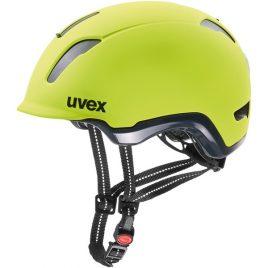 UVEX CITY 9 - Kask rowerowy miejski neonowy