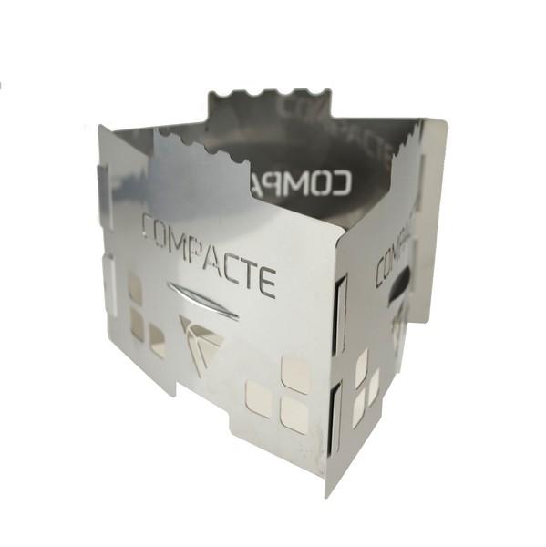 COMPACTE CM01TR- Kuchenka ze stali nierdzewnej składana na paliwo stałe 2